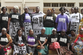 Women volunteers for the Sita Kimya awareness campaign Photo by Elly Arnoff