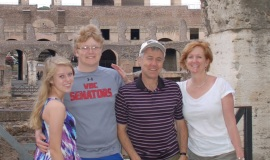 The LaFond family in Rome