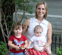 Jen Chapman and her daughters on Canada Day