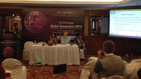 Speakers at the MenEngage Symposium. Photo by Radhika Dayal, PHFI.